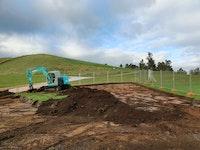 Stockpiling topsoil