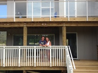 Home owners enjoying an early summer holiday