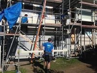 Weatherboards & solid plaster